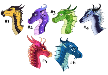Wings of Fire Adopts [2/6 OPEN] by Lamp-P0st