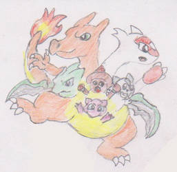 Six Pokemon Conjoinment by WhippetWild