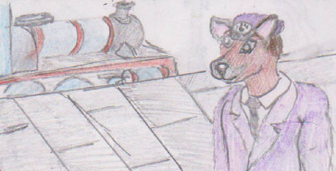 Gordon the Station Master by WhippetWild