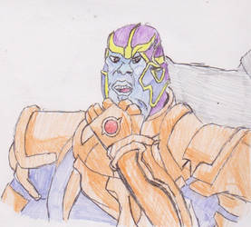 Thanos with armour and glove colour by WhippetWild