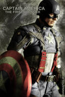 my hottoys collection:captain america_1 by HannaPhilip
