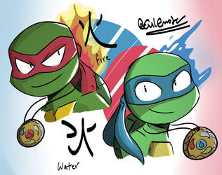Fire and Water - TMNT by TheEmster97