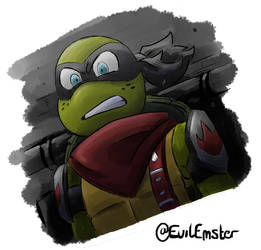 Angry Foot Clan Mikey - TMNT by TheEmster97