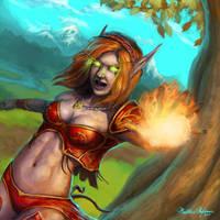 Blood Elf Mage by Kanaru92