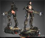 DWIV Machine Cyborg WinnerPose by Bogdanbl4