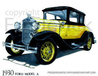 Ford Model A 1930 by frederickofolympus
