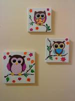 Shabby Sugar-Owls by RockinBarbarella