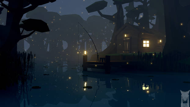 low poly - swamp fishing by xxxscope001xxx
