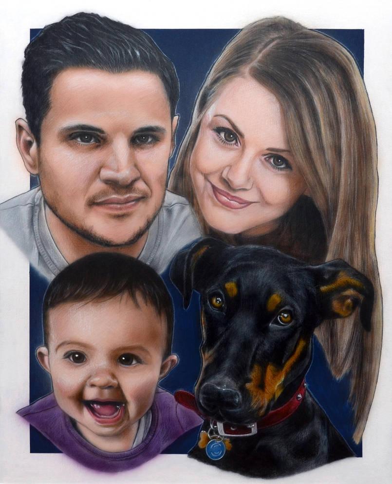 Family Portrait Drew Struzan Technique By Fkouch On Deviantart