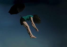 Obligatory Umbrella Flight by kelc