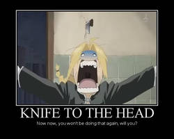 Knife To The Head by RabidDoller