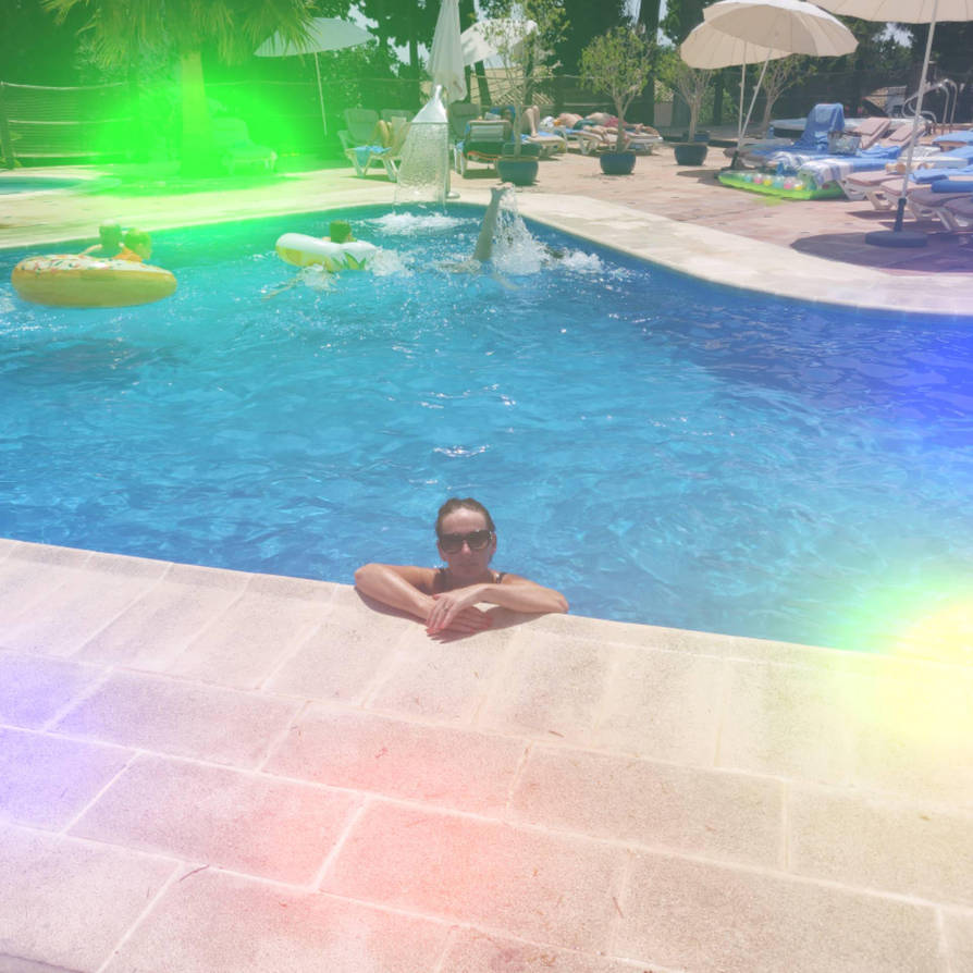 By the pool by MichaelJNimmo
