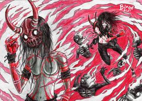 Blood fist by DemiseMAN