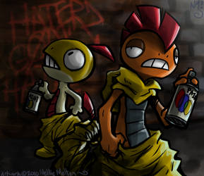 Punks by spookydoom