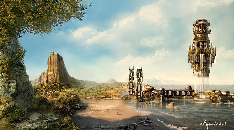 Waterfall Tower by tredowski