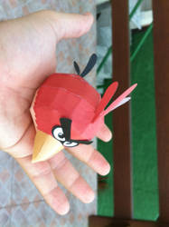 Paper Angry Bird Red - v1 by fred-zveiter