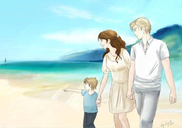 At the sea by Skyltik