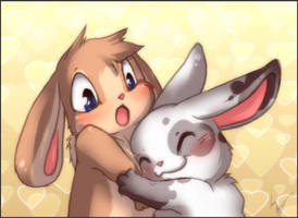 Will you be my snuggle bunny? by Minichi-01
