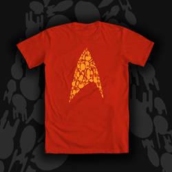 Bodly Going Star Trek Tee Shirt Design by Tsubasa-No-Kami