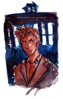Doctor Who David Tennant and TARDIS by Tsubasa-No-Kami