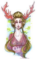 Deva Elf Lady with Coral Antlers by Tsubasa-No-Kami