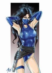 Kitana from mortal kombat, pin-up - updated by AlessandroGazzoli