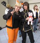 Me and JoeyBlondeWolf2 by CrimzonEchidna