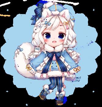 [C] Blue Pomeranian by AnaMGomes