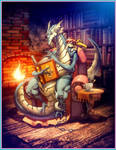 LeDragon and his son Pablo by GENZOMAN