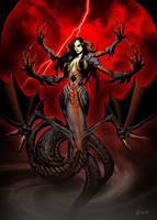 Ekhidna mother of monsters. by GENZOMAN