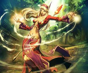 Warcraft - Erindae Firestrider by GENZOMAN