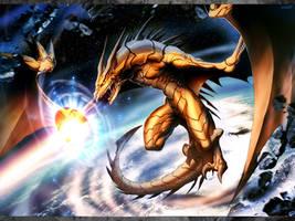 Golden dragon by GENZOMAN