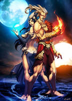 Sun and Moon - Kran and Kra by GENZOMAN
