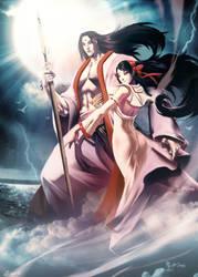 Izanami And Izanagi by GENZOMAN