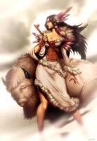 White Buffalo Woman by GENZOMAN