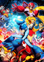 Mega man by GENZOMAN