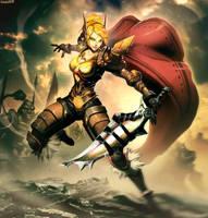 Kaerie Defender of Sunwell by GENZOMAN