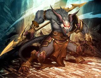 Warhammer - Horned Rat by GENZOMAN