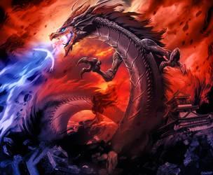L5R - Shadow Dragon by GENZOMAN