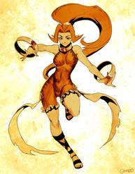 Zelda - Din Sketch by GENZOMAN