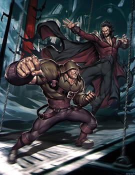 OMEN OF SORROW - Dracula vs Quasimodo by GENZOMAN