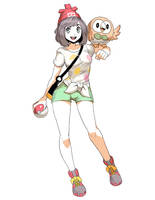 Pokemon Sun and Moon - Female Trainer sketch by GENZOMAN