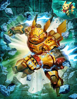 Mecha Pikachu - The Game #11 COVER by GENZOMAN