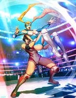 Street FIgther Unlimited 7 cover - R. MIka by GENZOMAN
