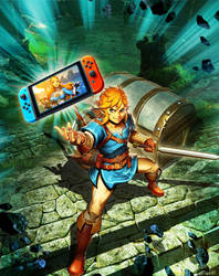 Nintendo SWITCH - Zelda Breath of the Wild by GENZOMAN