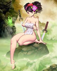 Muramasa The Demon Blade - Momohime Onsen by GENZOMAN
