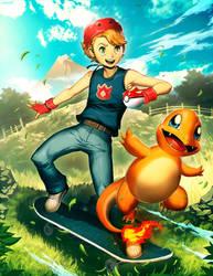 Skate and Charmander by GENZOMAN