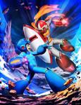 Mega Man VS Break Man - Mega Man Mastermix 3 by GENZOMAN