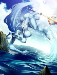 Layen in ocean by GENZOMAN