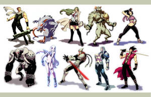 chara design: game draft 2 by GENZOMAN